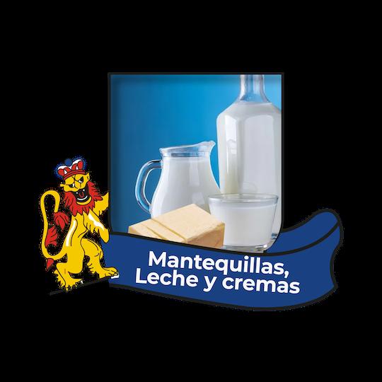 Mantequilla, leche y cremas